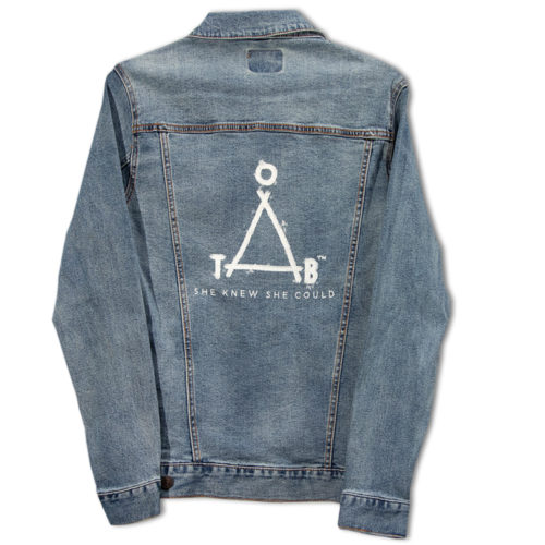 Empowerment Jean Jacket | One Tough Bitch Triangle Logo