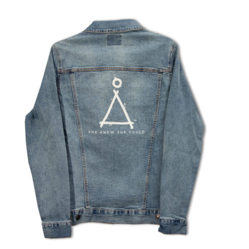 Empowerment Jean Jacket, Triangle Logo | One Tough Bitch