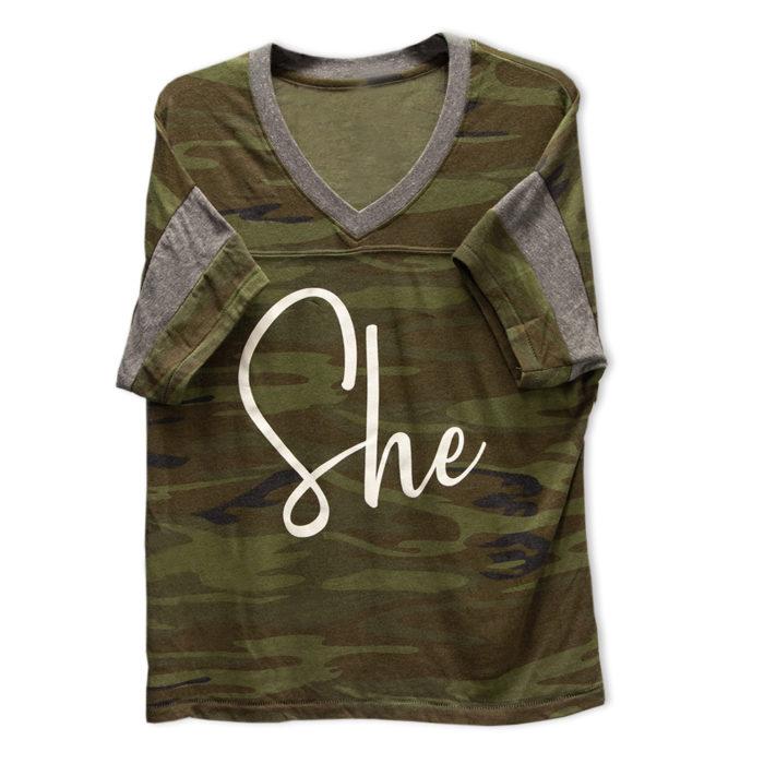 One Tough Bitch Camo She T-shirt