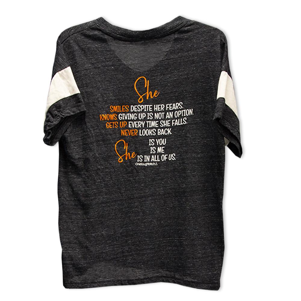 One Tough Bitch She t-shirt, back
